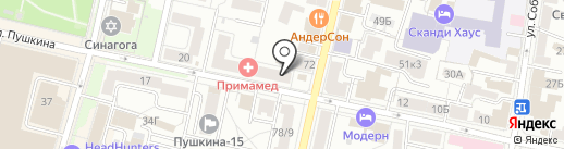 Образ на карте Ярославля