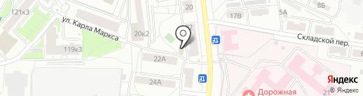 Дворик на карте Ярославля