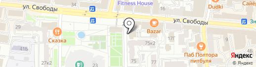 Республика на карте Ярославля