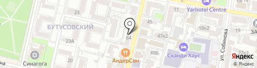 Чайный дворик на карте Ярославля