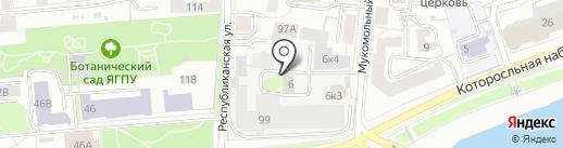 ЯПРЗ на карте Ярославля