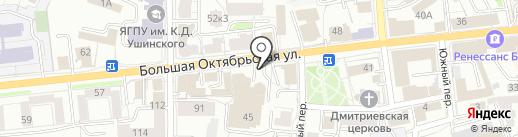 Пчелка на карте Ярославля