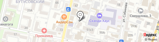 Ланжель на карте Ярославля