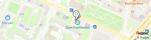 Музейно-творческий центр народного художника России В.Н. Корбакова на карте Вологды