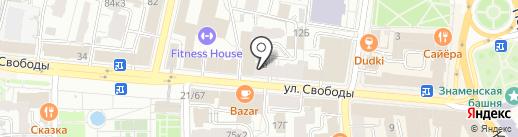Родина на карте Ярославля