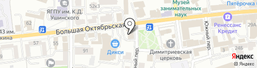 Сократ на карте Ярославля