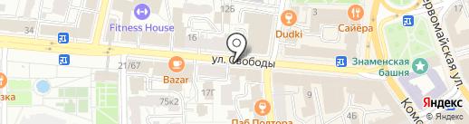 Пролайн на карте Ярославля