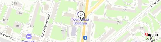 Вита на карте Вологды