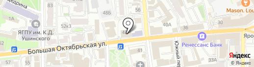 Умиротворение на карте Ярославля