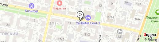 Ярославский камерный театр на карте Ярославля