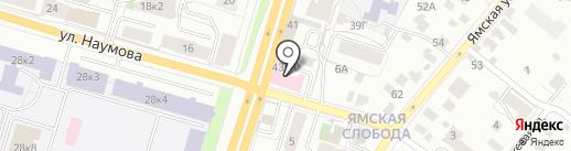 Сеть аптечных пунктов на карте Ярославля