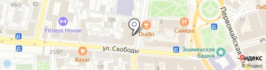 Банкомат, Банк Финансовая корпорация Открытие, ПАО на карте Ярославля