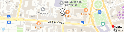 Бургерная 838 на карте Ярославля