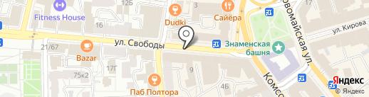 Квартира Маникюра на карте Ярославля