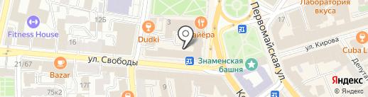 Пряник-тур на карте Ярославля