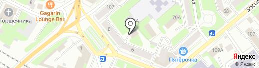 Унция на карте Вологды