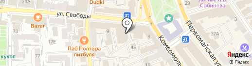 Сумкисс на карте Ярославля