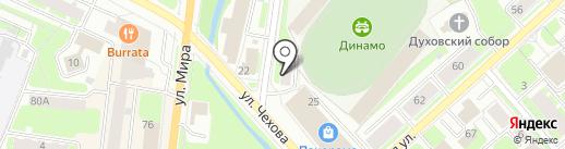 Защита на карте Вологды