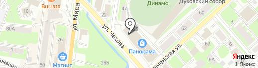 Акватория на карте Вологды