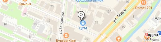 Телефонру на карте Вологды