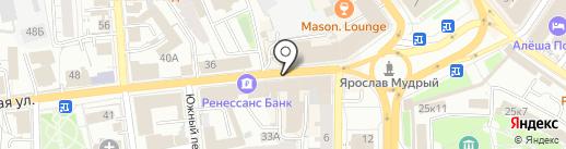 Русская риза на карте Ярославля