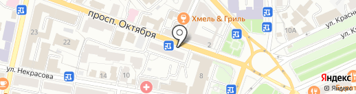 Альфа на карте Ярославля