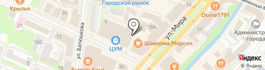 Магазин тканей на карте Вологды