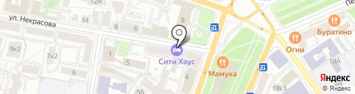 Городская Квартира на карте Ярославля