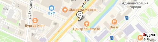 Клюква на карте Вологды