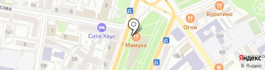 Базилио на карте Ярославля