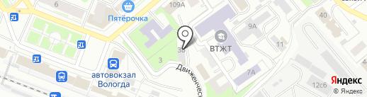 100*дорог на карте Вологды
