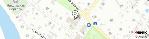 Прилуцкая банька на карте Вологды