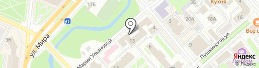 Спарм на карте Вологды