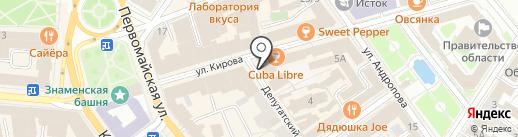 Стильный лен на карте Ярославля
