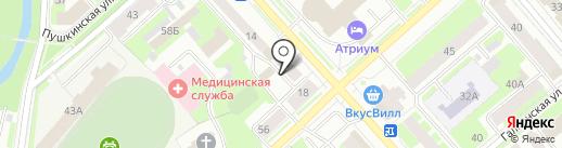 Исток на карте Вологды