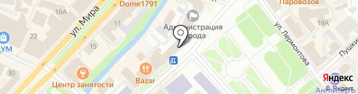 Фунт на карте Вологды