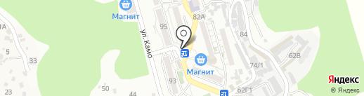 Киоск канцелярских товаров на карте Сочи