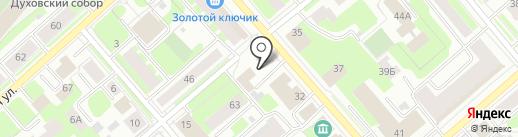 Русич на карте Вологды
