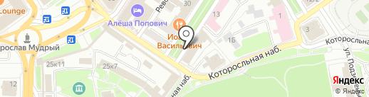 ДЭНАС на карте Ярославля