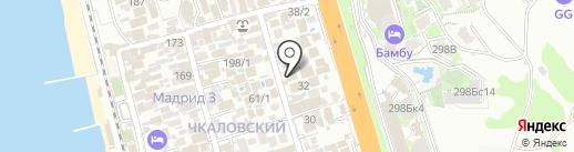 Л`Этуаль на карте Сочи