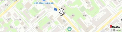 Амалуна на карте Вологды
