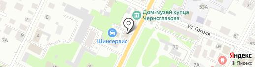 Наш сервис на карте Вологды