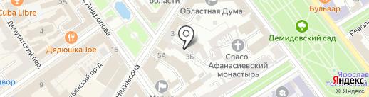 Адвокатский кабинет на Нахимсона на карте Ярославля