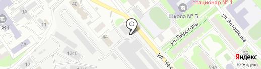Контакт на карте Вологды