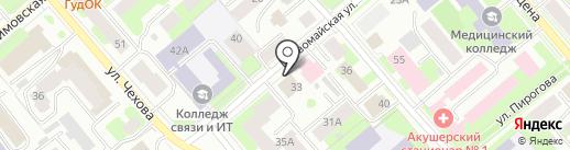 Престиж-Лимит на карте Вологды