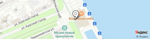 Волга на карте Ярославля