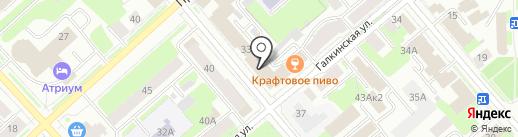 Дельта на карте Вологды