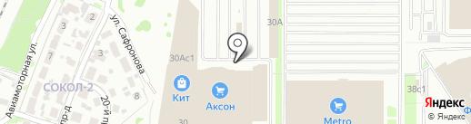 Слик на карте Ярославля