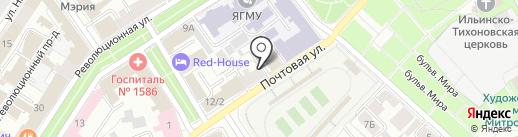 Странник на карте Ярославля