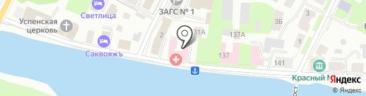 Вологодская центральная районная больница на карте Вологды